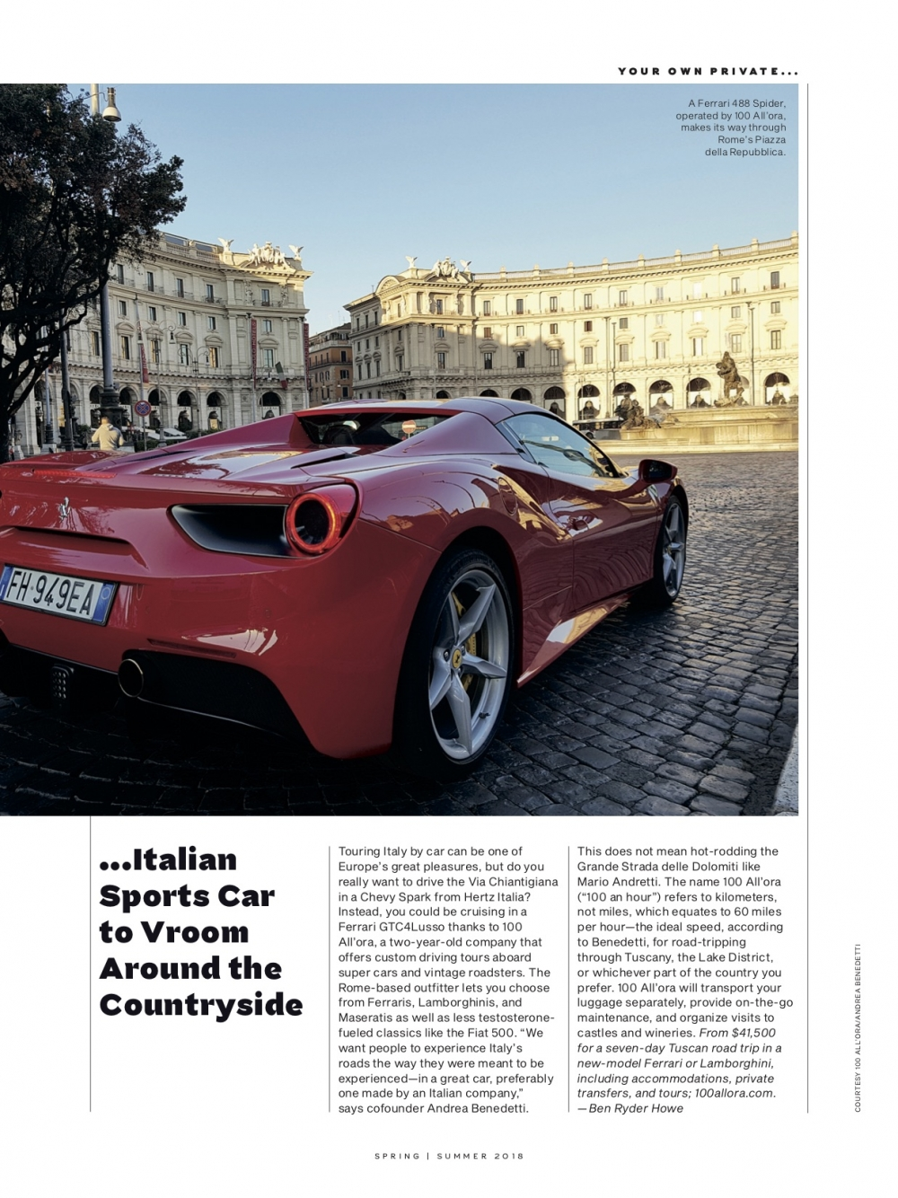 Centurion Magazine - 100 all'ora